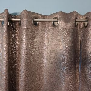 Silver Metallic Blackout Curtains